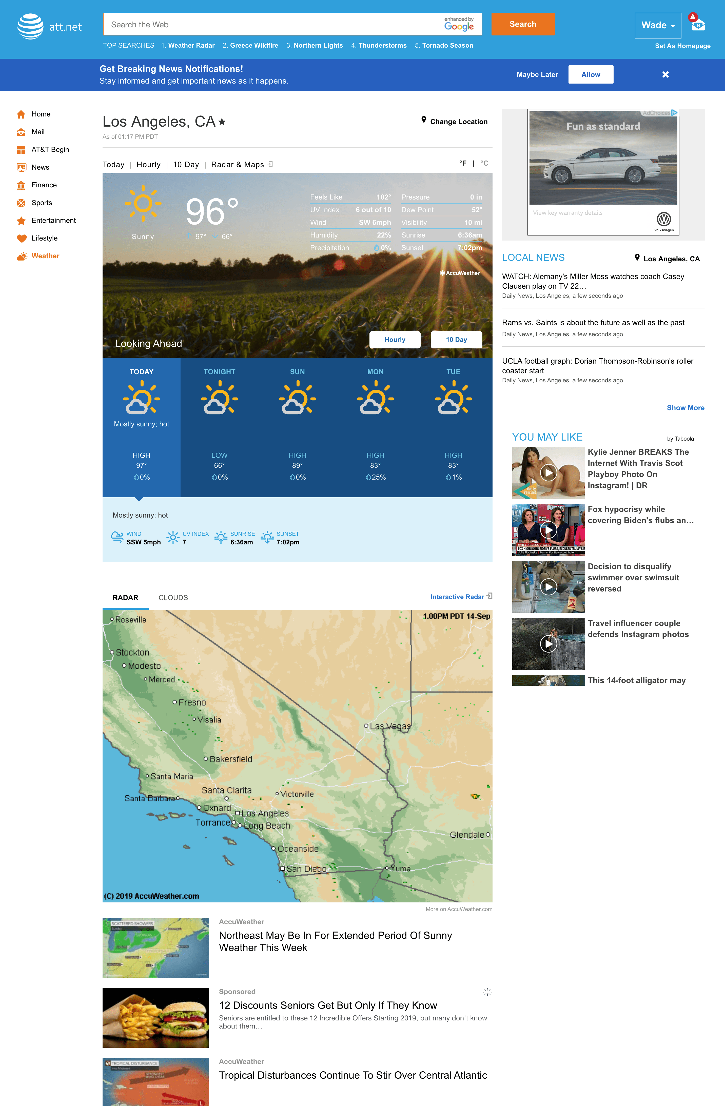 Watch the weather on your desktop